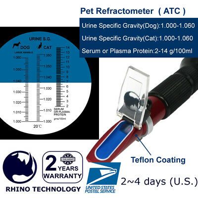 Rhino Clinical Pet ( Dog & Cat ) Refractometer HR305 (ATC), Urine Specific test