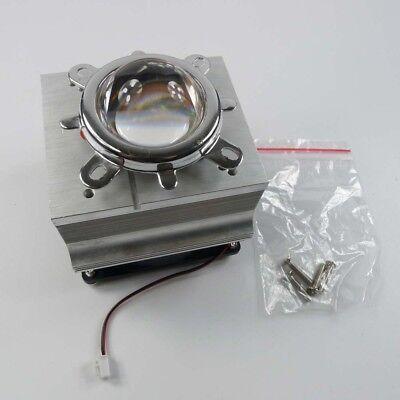 100w Led Aluminium Heat Sink Cooling Fan 120 44mm Lens Reflector Brack
