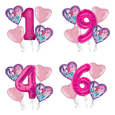 My Little Pony 1-9 Birthday Balloon Bouquet 5 pcs Girls Birthday - My Little Pony Balloons