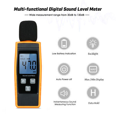 Sound Level Meter Db Meters 30-130dba Noise Volume Measuring Tool Decibel L2c6