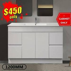 1200mm Bathroom Vanity Cabinet Ceramic Finger Pull Luca *BRAND NEW*