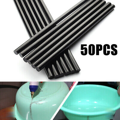 NEW 11mm*27cm 50 x Black Glue Sticks For Hot Melt Gun Car Repair Adhesive