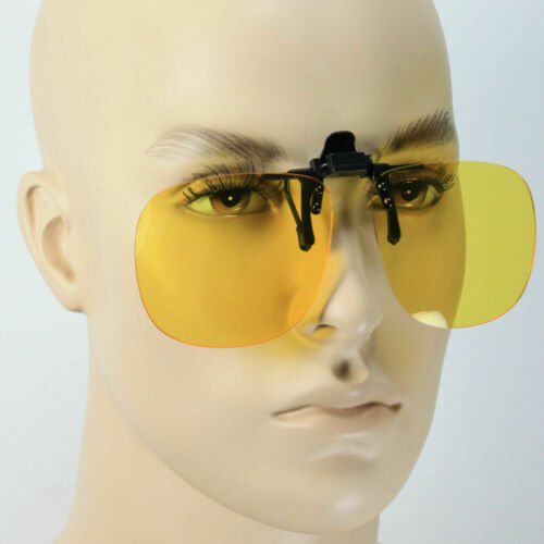 Anti-glare Clip On Sunglasses Night Driving Glass POLARIZED Lens Fishing Golf Clothing, Shoes & Accessories