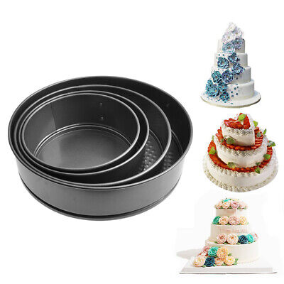 Cake Baking Pan Steel Mold Circular For Bakeware Removable Bottom Non-Stick