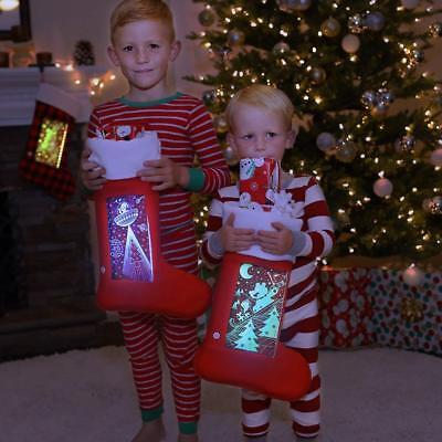 Christmas LED Stockings Light-Up Large Lighted Holiday Decorative Stocking](Led Christmas Stockings)