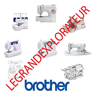 Brother Manual Sewing Machine - Ultimate Brother Sewing Machine Operation Parts Repair Service manual PDF on DVD
