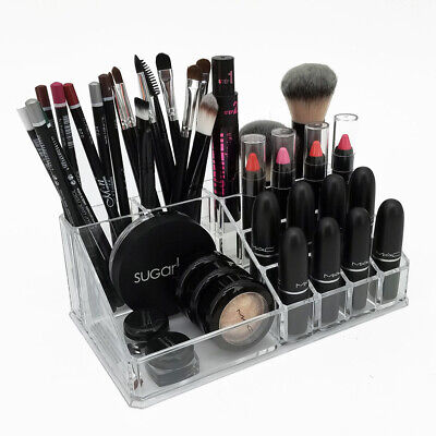 NEW! OnDisplay ANNIE DELUXE MAKEUP/JEWELRY ORGANIZER-ACRYLIC COUNTER TRAY-MIRROR (Acrylic Trays)