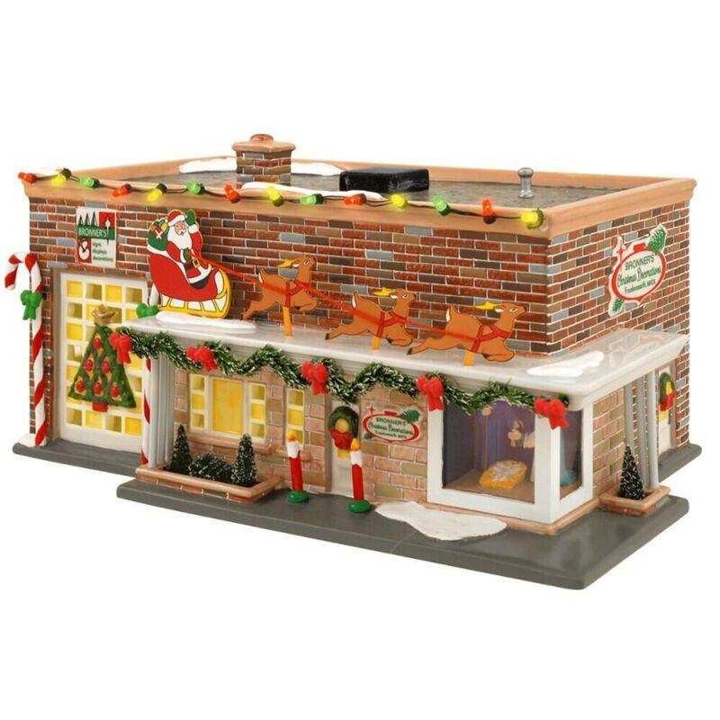 Dept 56 The Original Bronner's Store #06227 ~ The Snow Village, Excellent Shape