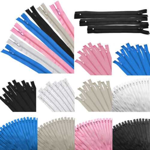 "50pc 9"" 12"" 16"" Nylon Zipper Tailor Close End Sewer Craft Mu"