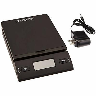 Accuteck 50 Lb All-in-one Black Digital Shipping Postal Scale With Adapter