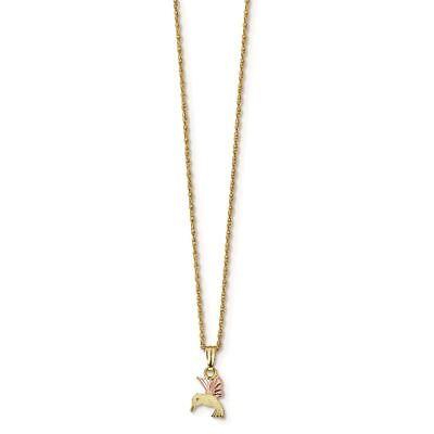 Black Hills Gold Hummingbird Pendant - 10K Tri Color Gold Black Hills Gold Hummingbird Pendant with Necklace, 18