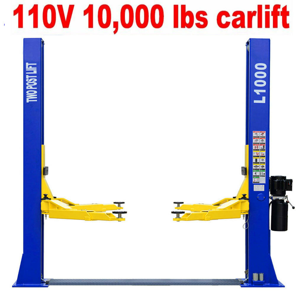 A++10,000 L1000 2 Post Lift Car Auto Truck Hoist 110V Inquiry Shipping