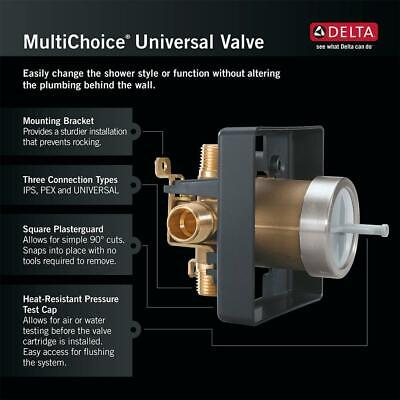 Delta MultiChoice Universal Tub & Shower Valve Body Rough-In Kit R10000-UNBX Shower Valve Body Rough