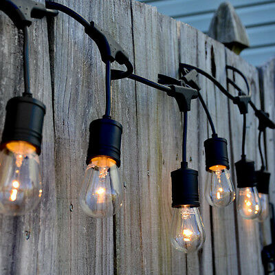 (48FT LED Outdoor Waterproof Commercial Grade Patio Globe String Lights Bulbs )