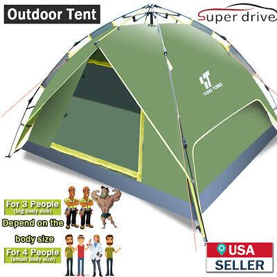 3-4 People Waterproof Automatic Instant Pop Up Outdoor Tent