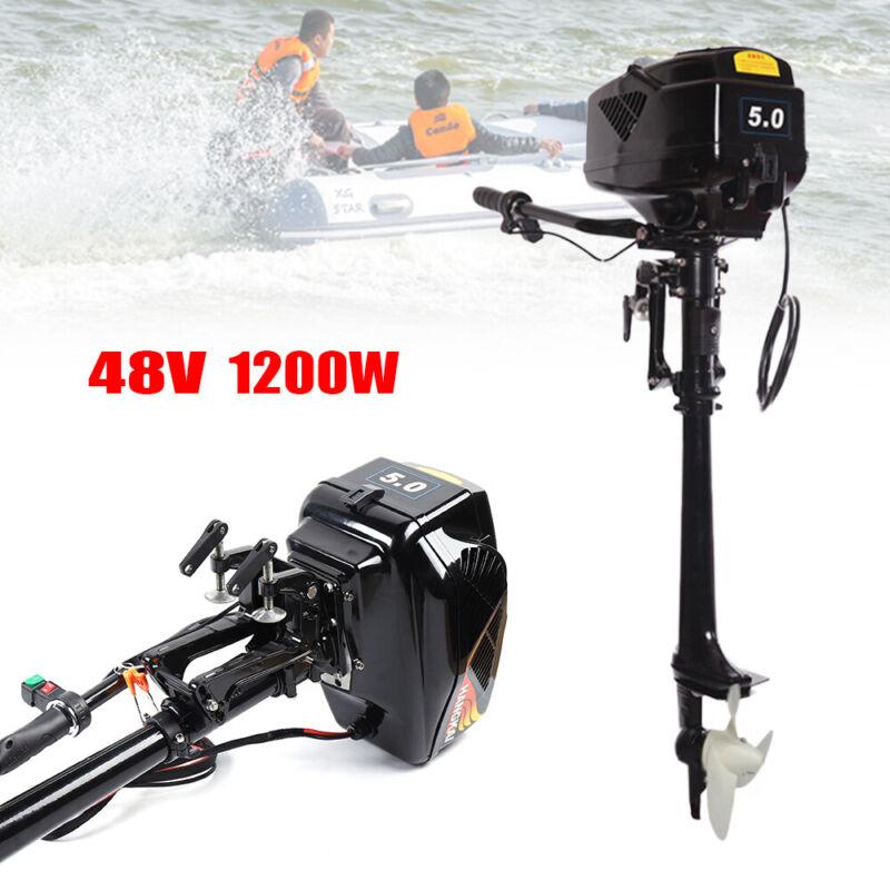 HANGKAI 48V Electric Outboard Motor 1200W 18A Long Shaft Fishing Boat Trolling