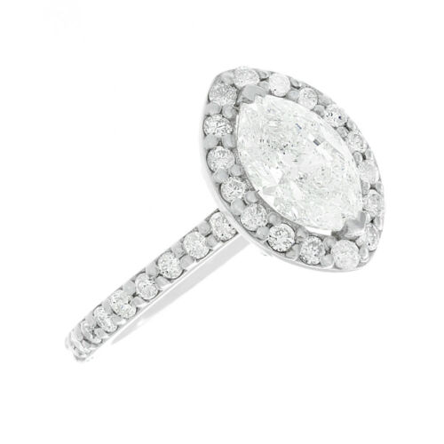 Best seller Halo Style GIA Certified Marquise Diamond Engagement Ring 3.10 CTW 4