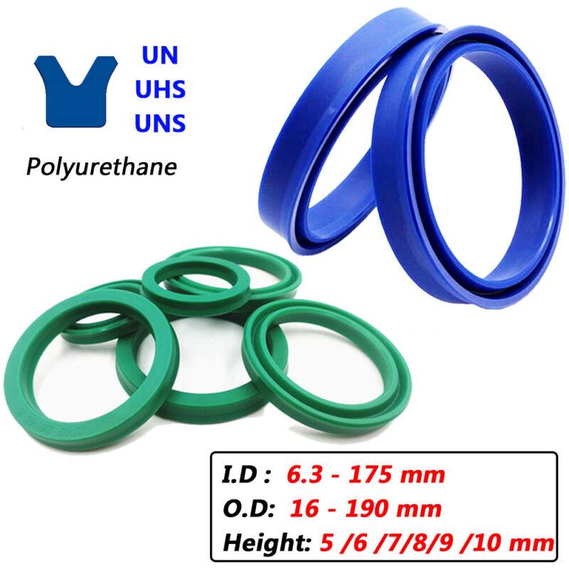 UN/UNS/UHS PU U-cup Piston Hydraulic Rod Oil Seal Rings Ø 6-175mm, Height 5-10mm