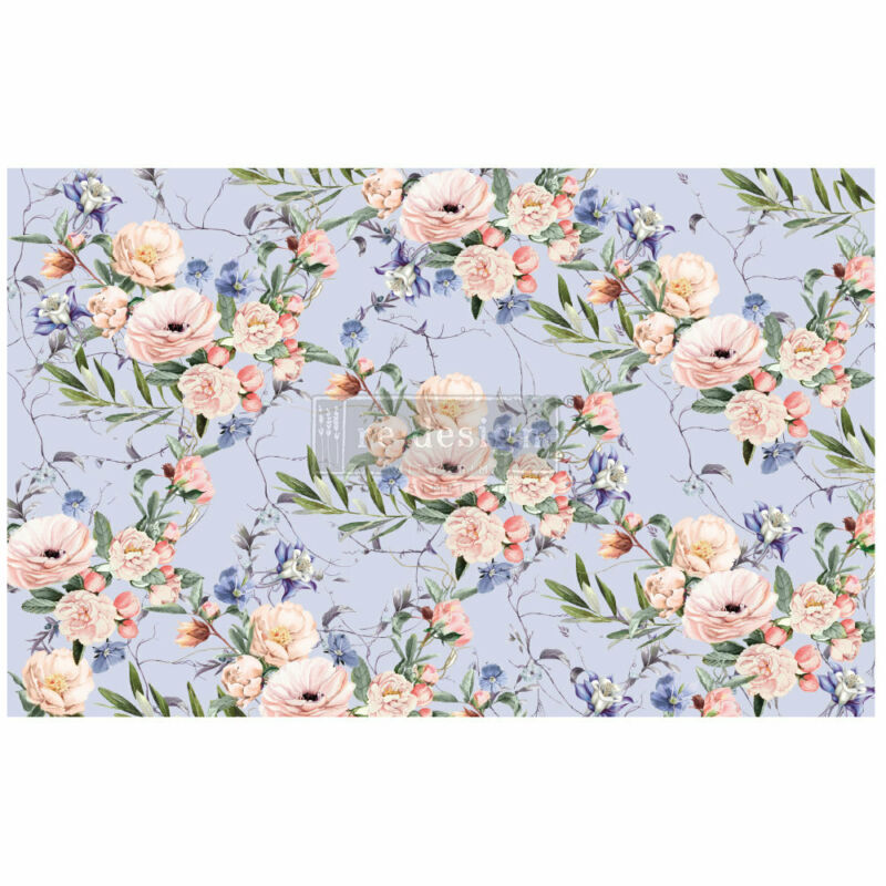 """LAVENDER FLEUR- 1 sheet 19""""x30"""" decoupage paper by redesign with Prima!"""