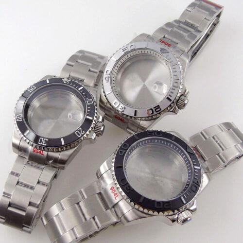 20atm steel 40mm ceramic bezel sapphire glass Watch Case fit NH35 NH36 7S26 2824