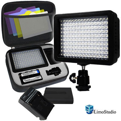 LimoStudio 160 LED Video Light Lamp Panel Dimmable for DSLR