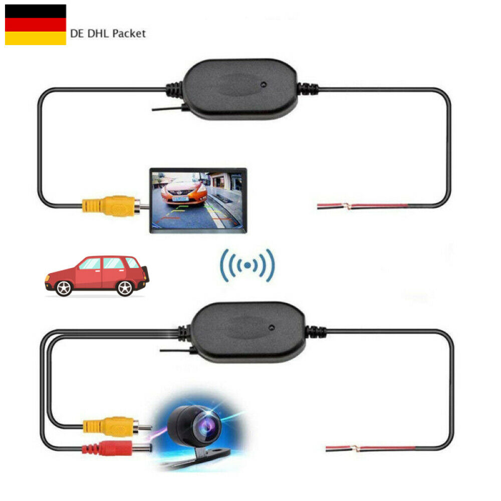 Wireless Funk Transmitter für Auto KFZ Rückfahrkamera Sender Empfänger 2,4GHz