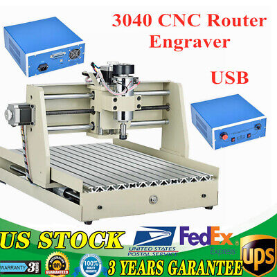 400w Usb 3 Axis 3040 Cnc Router Engraver Cuttrer Woodworking Engraving Machine