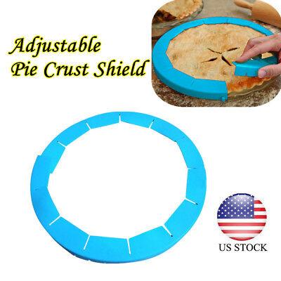 Adjustable Pie Crust Shield Fit 8.5-11.5Inch Rimmed Dish Edge Circle Crust AUS Pie Crust Edge