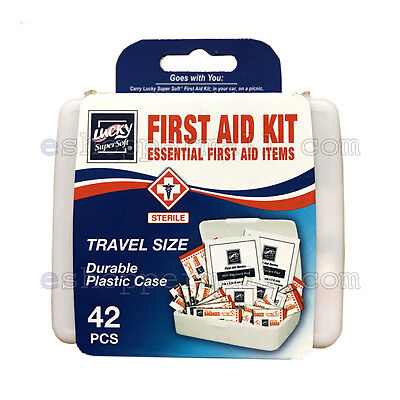 - 42 PC Essential First Aid Kit Emergency Bag Home Car Outdoor Travel Size B-42051