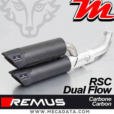 Exhaust Pipe Remus RSC Dual Flow Carbon Without Cat Vespa GTS 300 Ie Super 2016