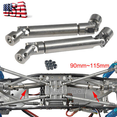 2pcs 90-115mm Steel Center Drive Shaft For 1:10 RC Rock Crawler Axial SCX10 -US