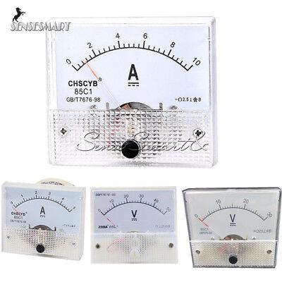 85c1 Gbt7676-98 Dc 0-30v50v 0-5a10a Analog Panel Amp Meter Voltmeter Gauge