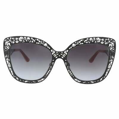 🍀DOLCE & GABBANA 2164 METAL LACE Black Red Cat Eye Filigree Sunglasses (Dolce Gabbana Sunglasses Flower)