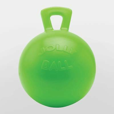 "10"" Green Jolly Ball Apple Scented Horse Pony Boredom Stall Paddock Treat Toy"