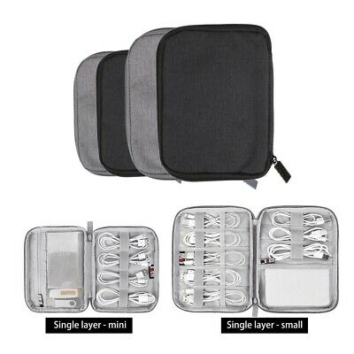 Electronic Accessories Organizer Pouch Cable USB Drive Case Portable Travel Bag