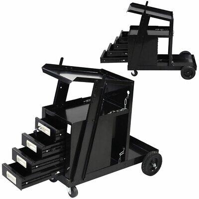 Welding Welder Cart W4 Drawer Cabinet Mig Tig Arc Plasma Cutter Tank Storage Us