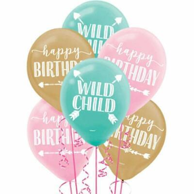 BOHO BIRTHDAY BALLOONS Party Wall Decorations Wild Child Room Decor Flower Arrow](Boho Birthday Party)