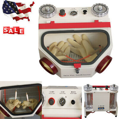 Dental Double Pen Fine Sandblaster Lab Equipment Twin-pen Unit Sandblaster Usa