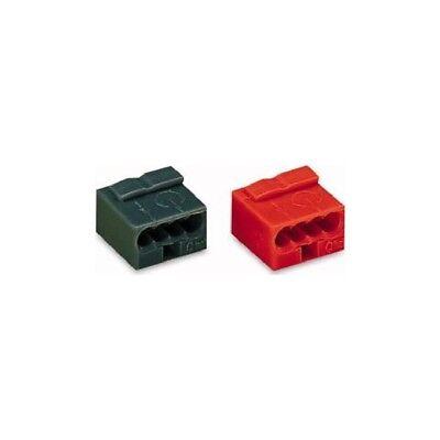 Wago 243-804 Micro-Dosenklemme 4x0,6-0,8 rot 100 Stück