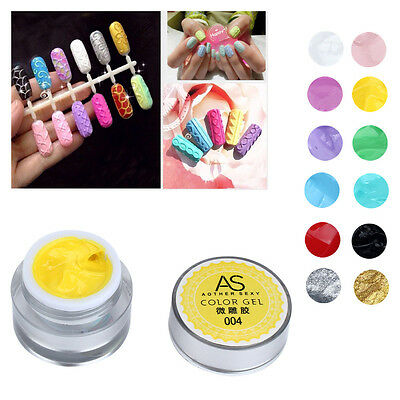 3D UV Sculpture Gel Coloured Nail Art Tip Creative Manicure Decoration Nail Tool
