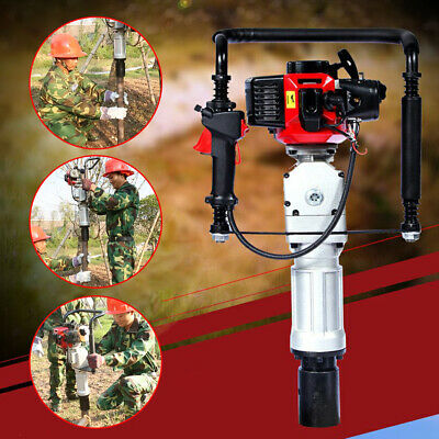 2 Stroke Heavy-duty Gasoline Gas Powered T-post Driver Engine 52cc Push Pile Hot