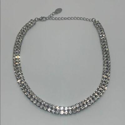 Zara Glam Statement choker rhinestone Necklace