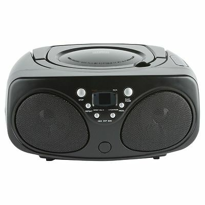 Tesco BB1501 Radio FM & CD Player Boombox With 3.5mm Auxiliary Input Black