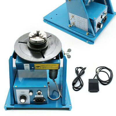 10kg Rotary Welding Positioner Turntable Table With Mini 2.5 3 Jaw Lathe Chuck