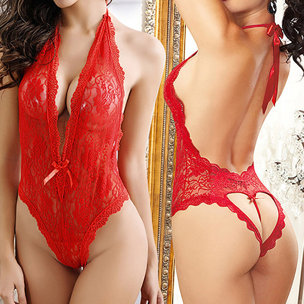 Sexy Women Plus Size Lace Babydoll Underwear Lingerie Dress Sleepwear sy