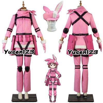 Llenn Sword Art Online Pink Cosplay Costume Halloween Comic Con Customize GGO - Halloween Costumes Online