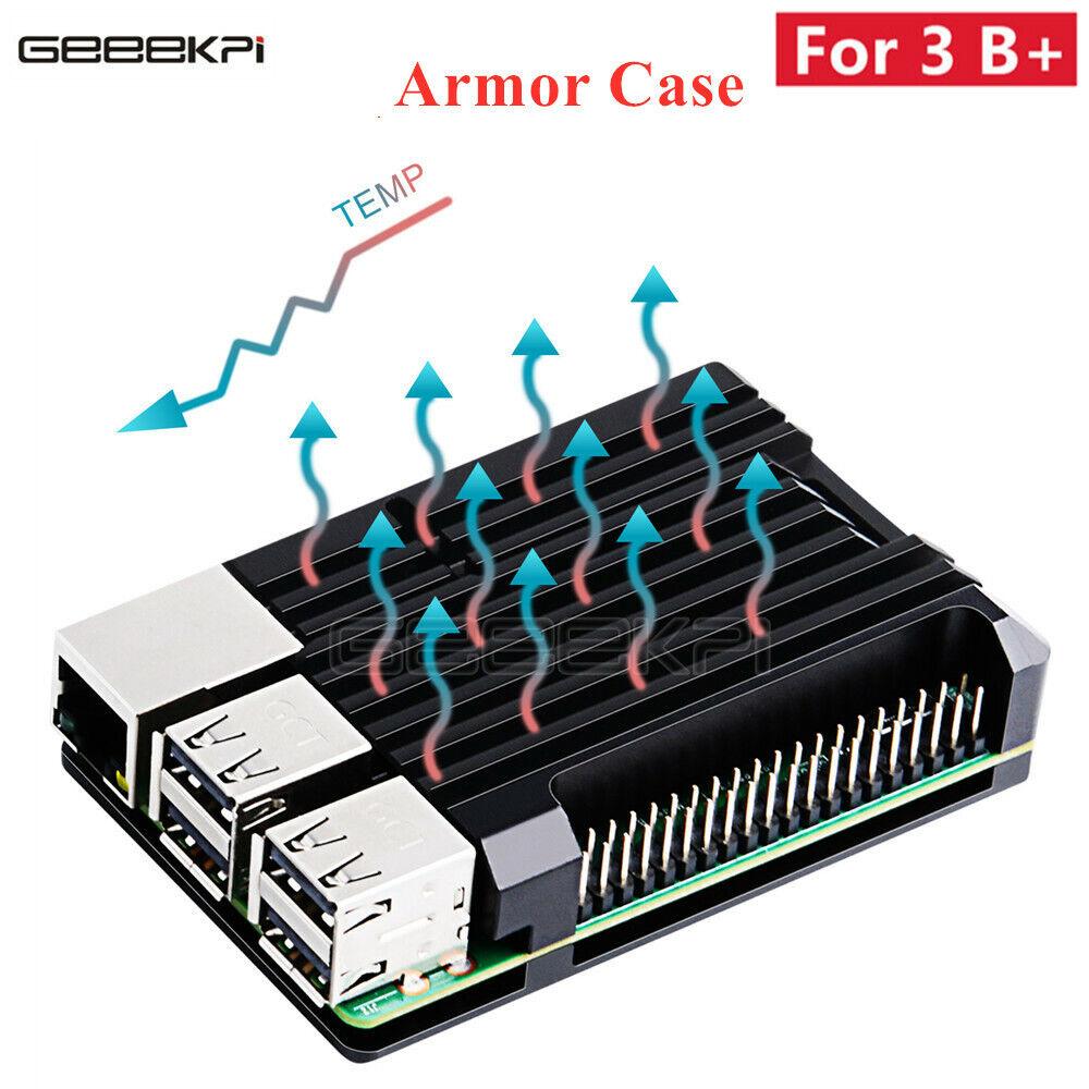 GeeekPi Raspberry Pi 3B+ 3B Plus Armor Case Aluminium Alloy