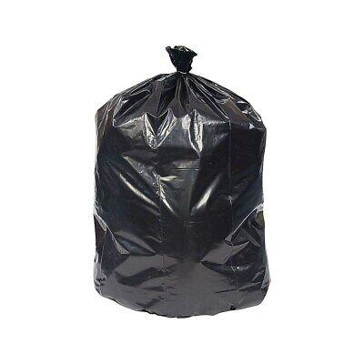 Brighton Trash Bags 50-56 Gallon 43x48 Low Density 0.95 Mil Black 100 CT 814878 48' Black Trash Bags
