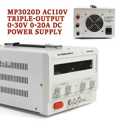 110v 60hz Mp3020d Linear Lab Bench Dc Power Supply Regulated Variable Led Good