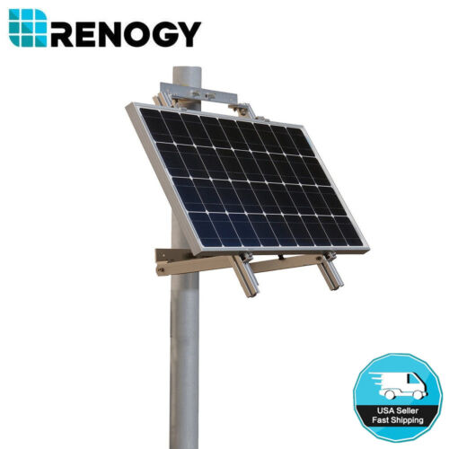 Renogy Single Side Pole Mount Aluminum Mounting Support For 50w 100w Solar Panel